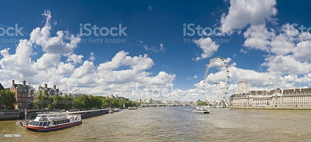 Big skies Thames at Westminster royalty-free stock photo