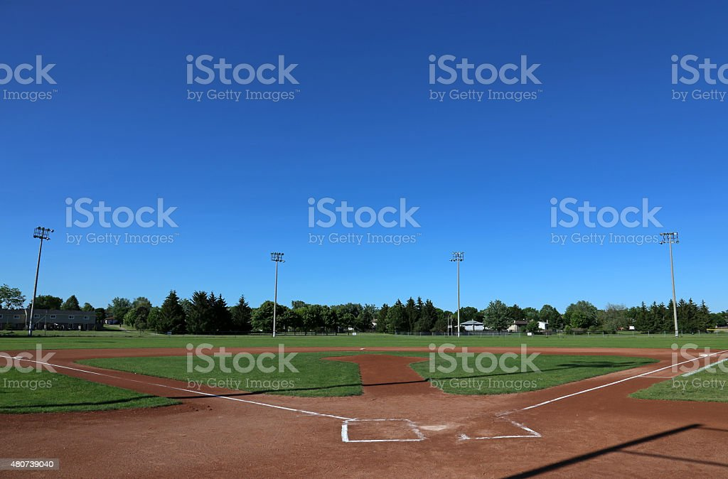 Big Sky Baseball Field stock photo