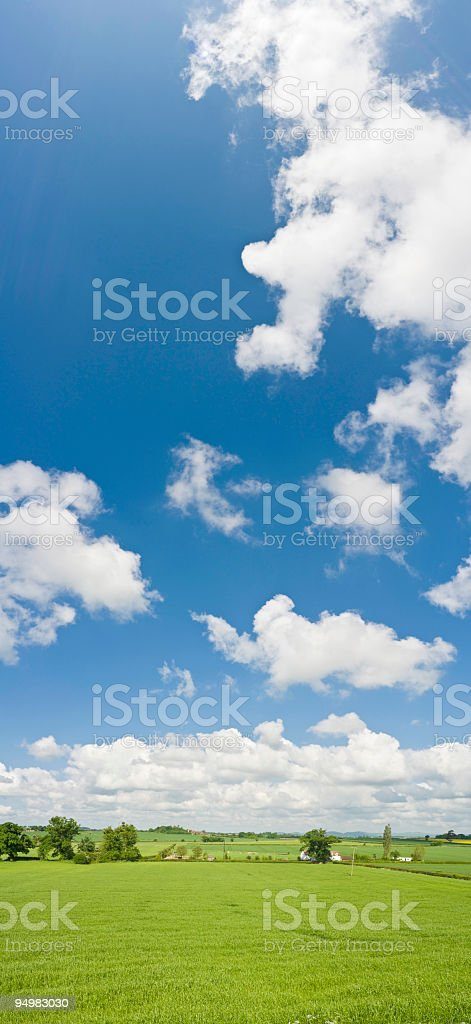 Big sky green country banner stock photo