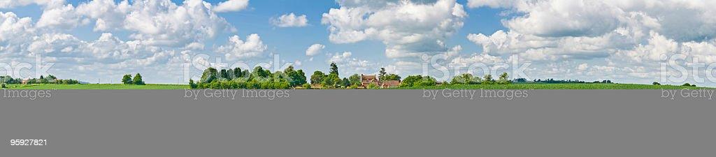 Big sky green farmland panorama royalty-free stock photo