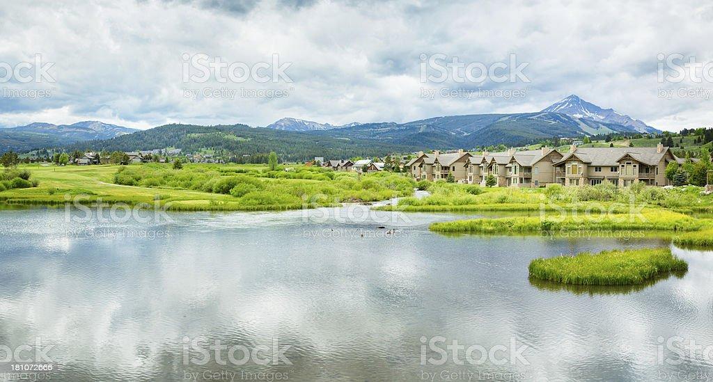 Big Sky Montana Panorama stock photo