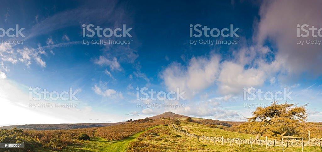 Big sky mountain trail royalty-free stock photo