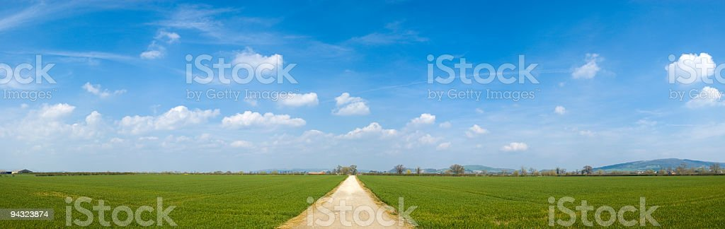 Big sky over green fields royalty-free stock photo