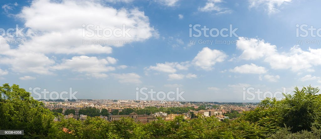 Big sky over Rome royalty-free stock photo
