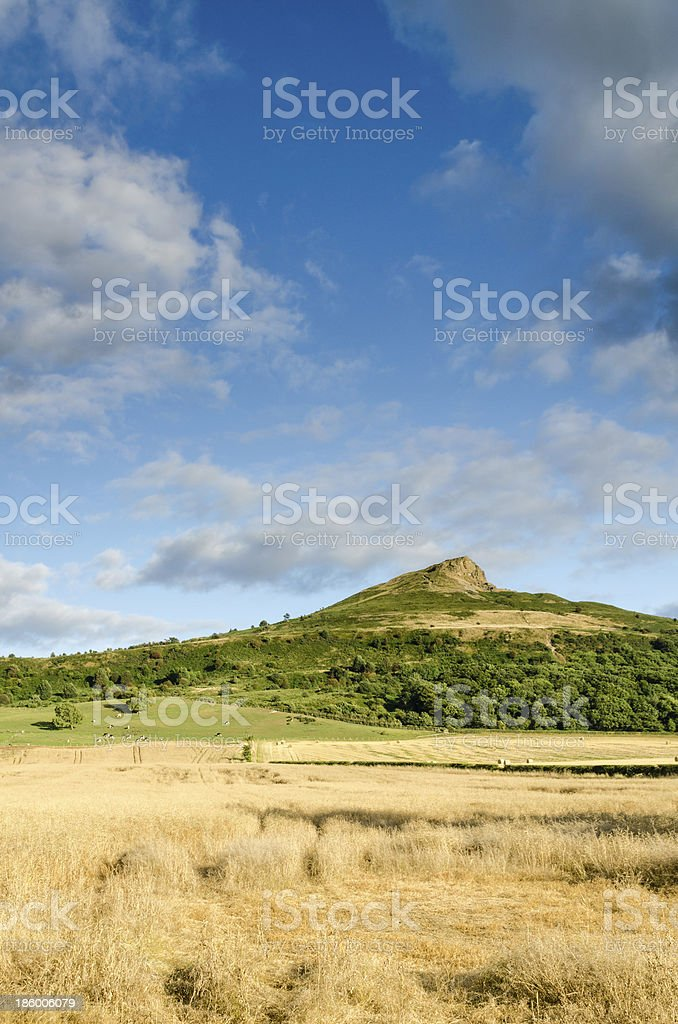 Big sky over Roseberry Topping stock photo
