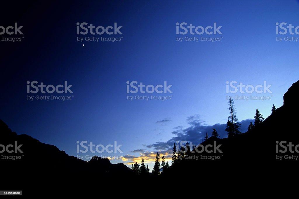 big sky silhouette landscape royalty-free stock photo