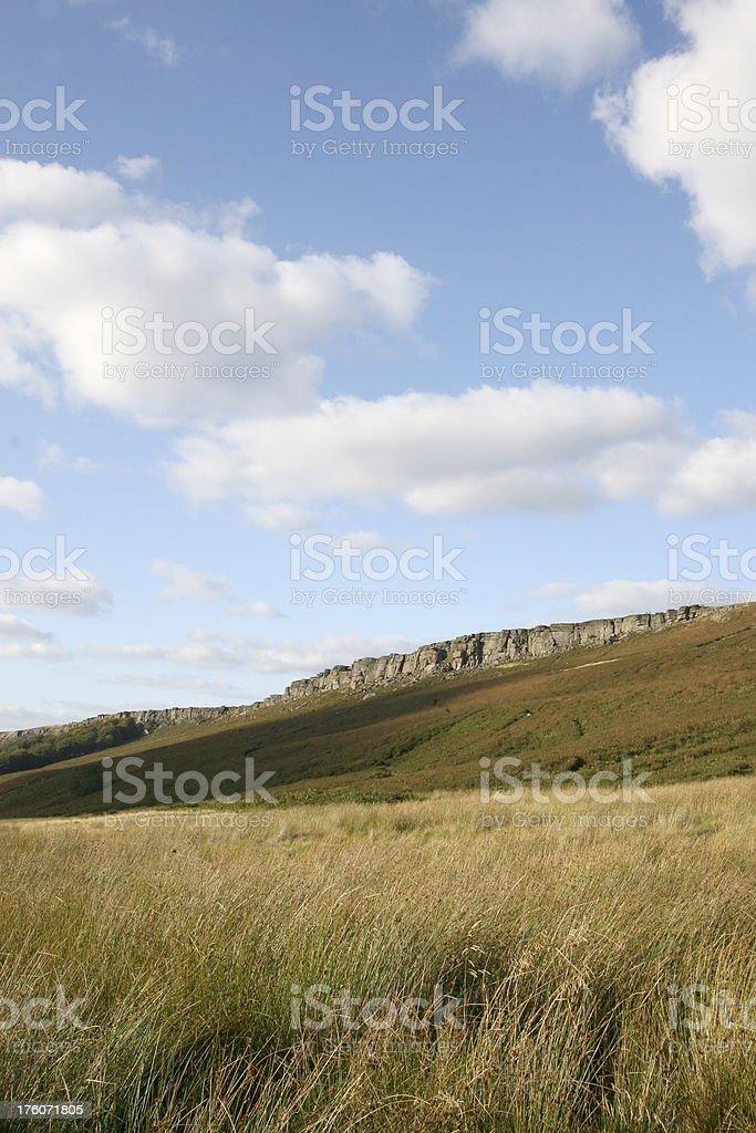 Big Sky, Stanage Edge, Peak District National Park stock photo