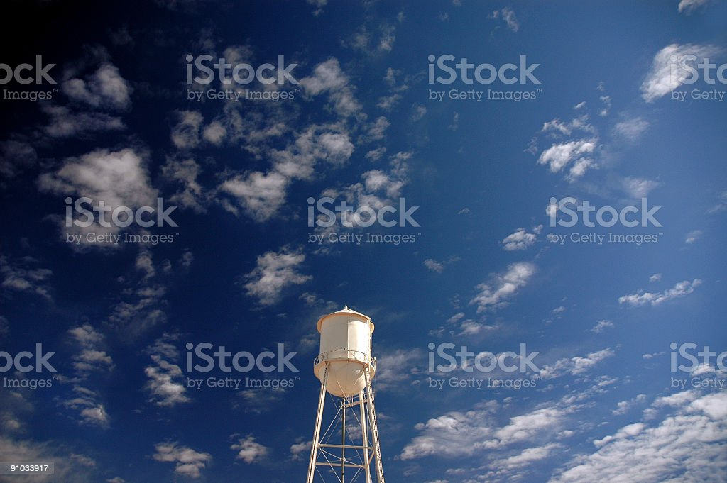 Big Sky Water Tower royalty-free stock photo