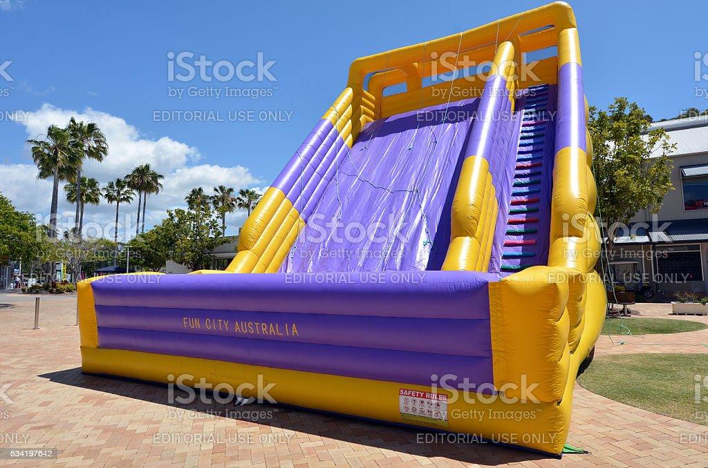 Big Slide Bouncy Castle stock photo