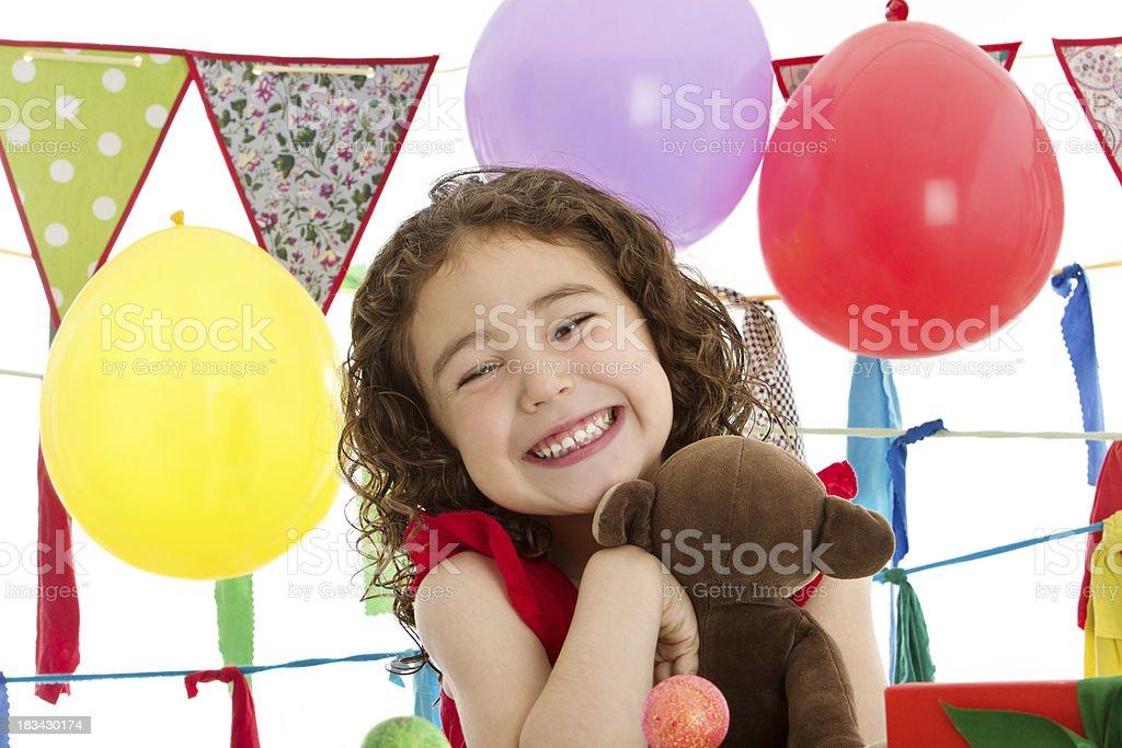 Big smile at birthday party royalty-free stock photo