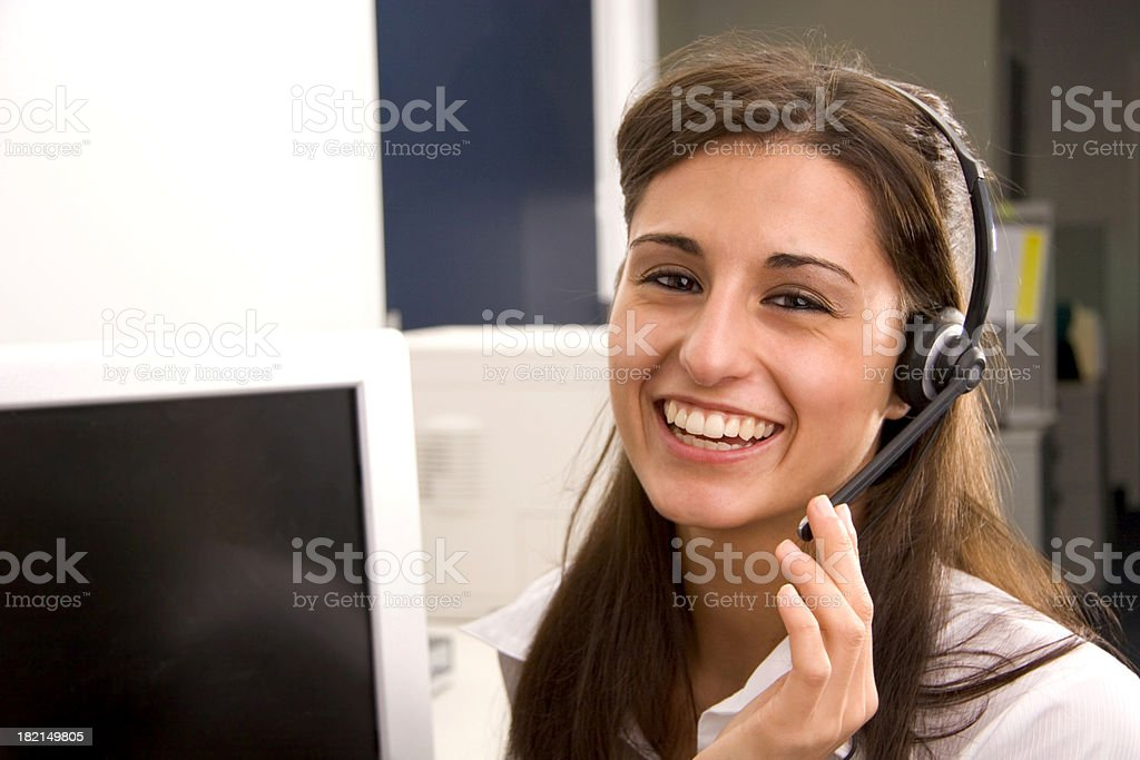 Big Smile Operator 3 royalty-free stock photo