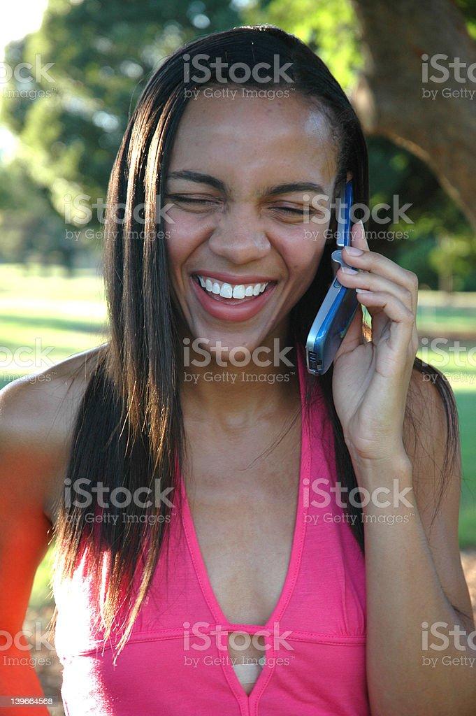 Big Smile Phone Call royalty-free stock photo