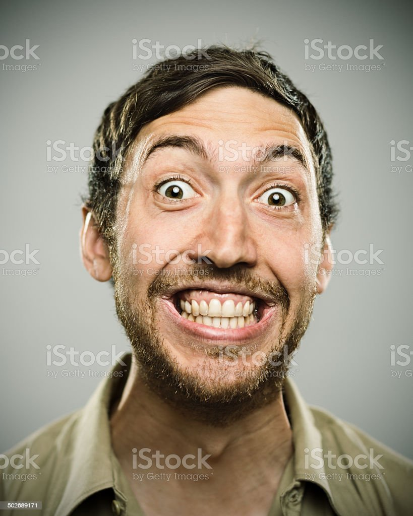 Big smile. stock photo