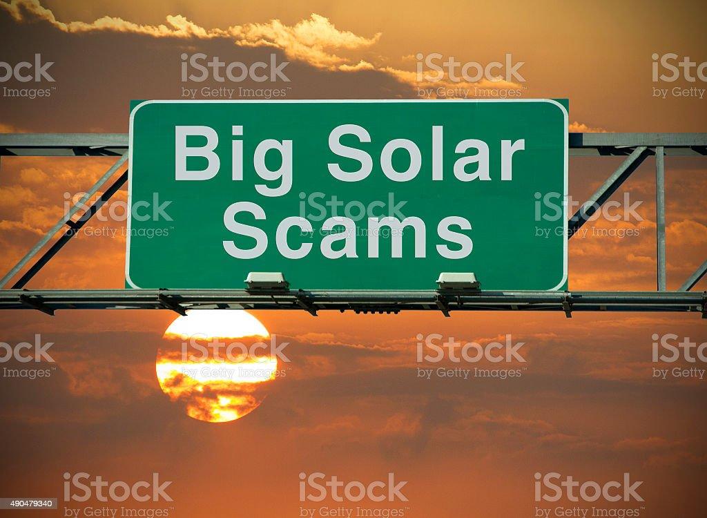 Big Solar Scams stock photo