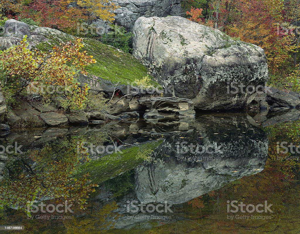 Big South Fork River - Reflection stock photo