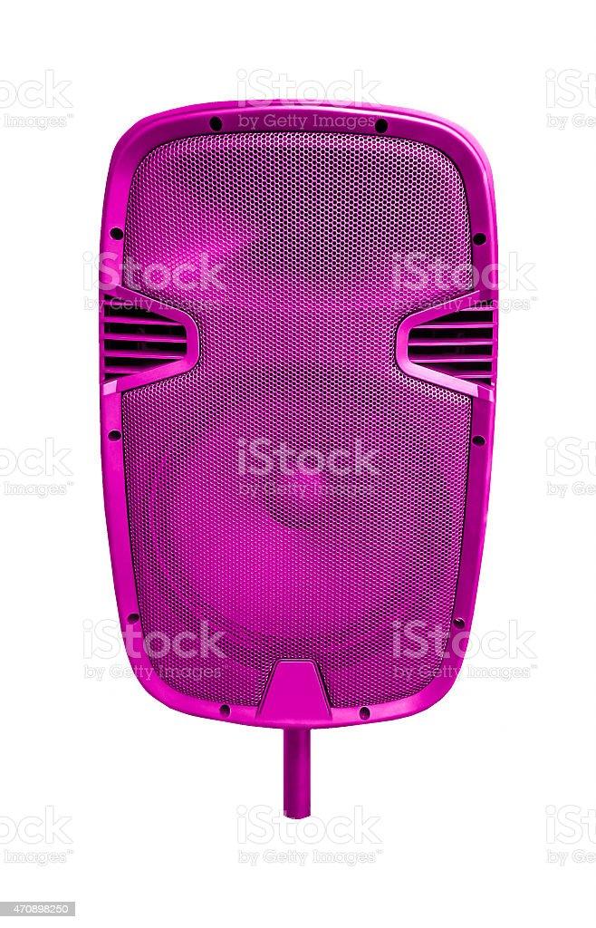 Big speaker shocking pink stock photo