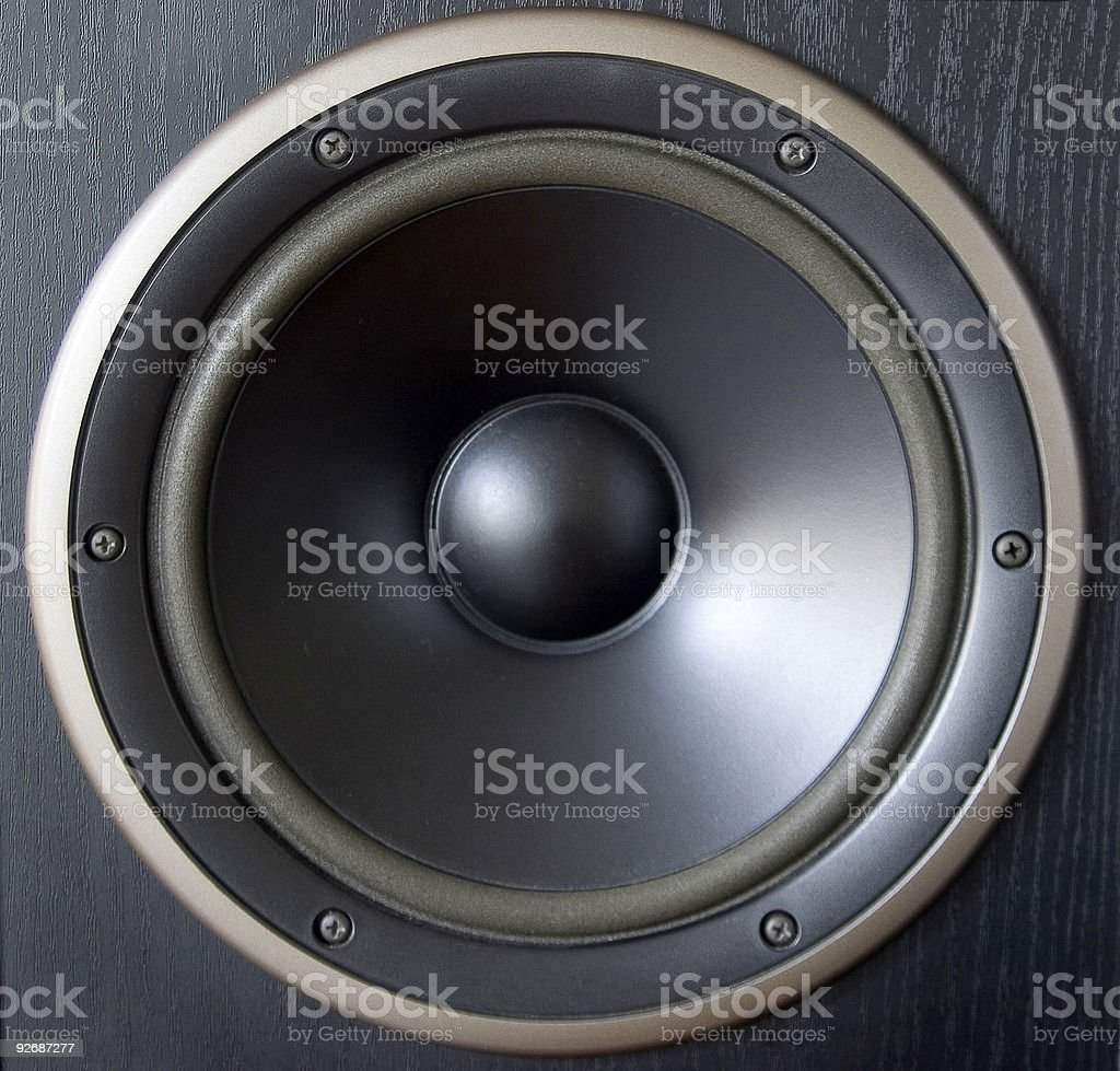 Big speaker, use it in 3D or 2D. royalty-free stock photo