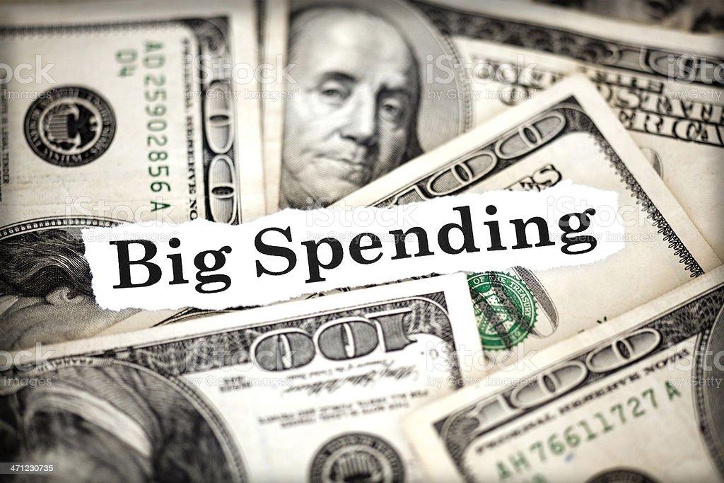 big spending royalty-free stock photo
