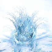Big splash in blue