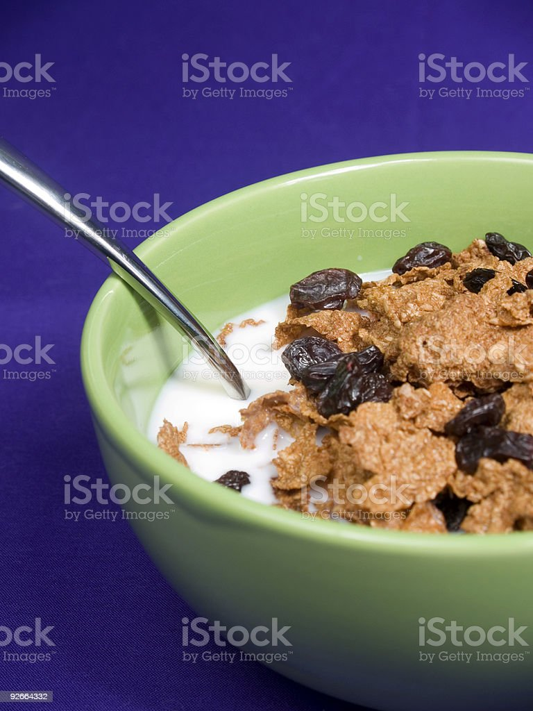 Big Spoonfull of Raisin Bran stock photo