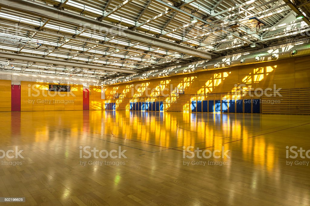 Big Sports Hall with Metal Roof stock photo