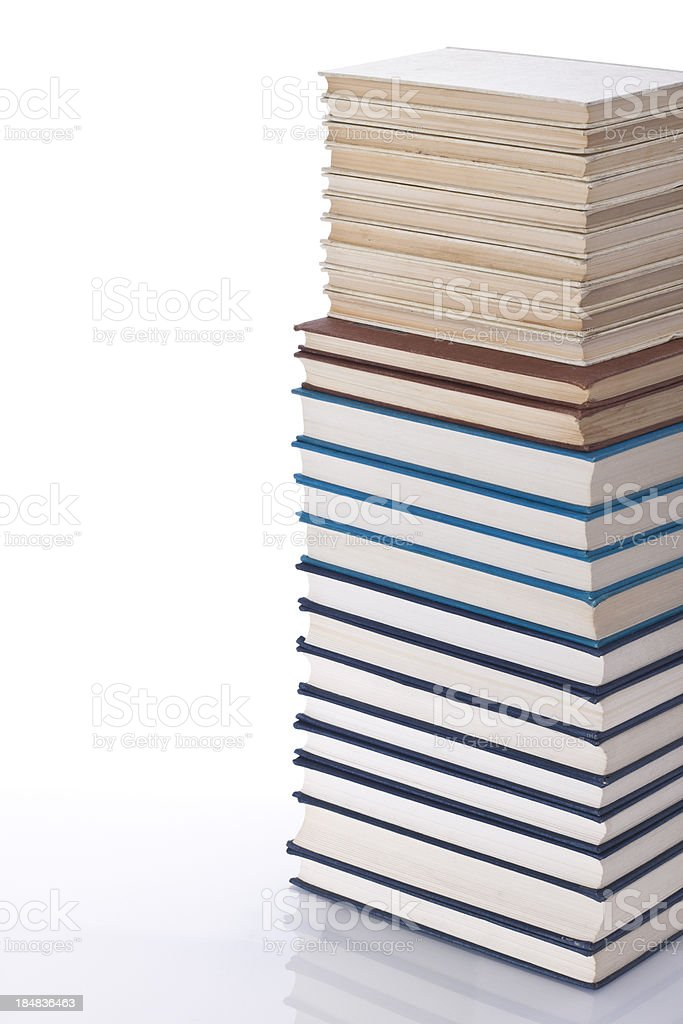 Big stack of books royalty-free stock photo