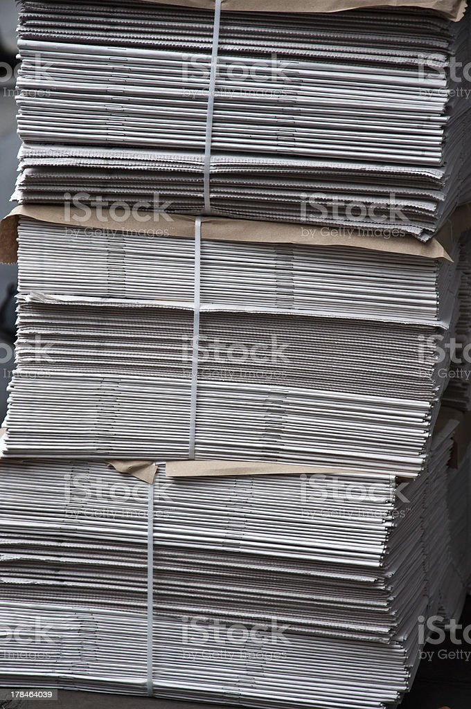 Big stack of newspapers stock photo