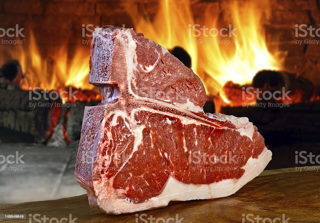 Big steak royalty-free stock photo
