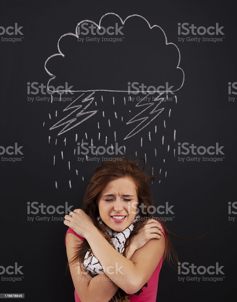 Big storm royalty-free stock photo