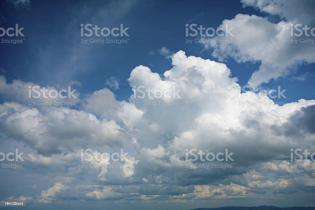Big stormy cloud stock photo