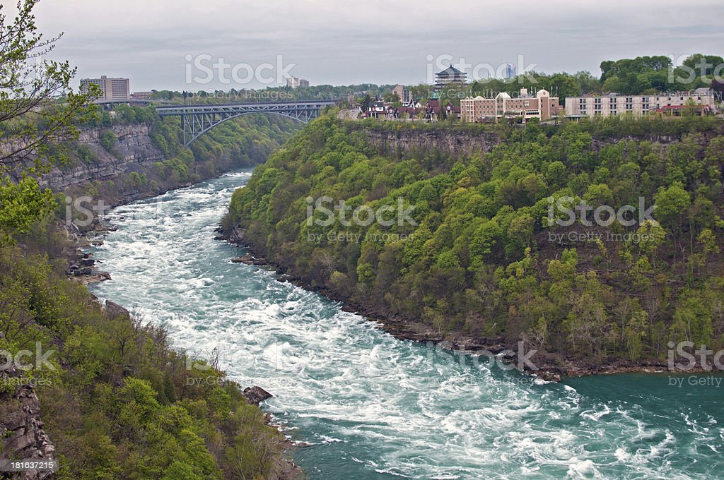 Big strong river stream in canyon royalty-free stock photo