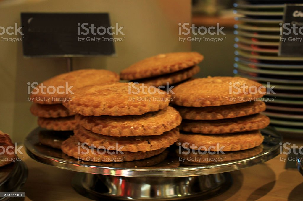 Big stuffed cookies stock photo