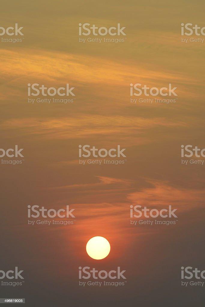 big sun on the sky royalty-free stock photo
