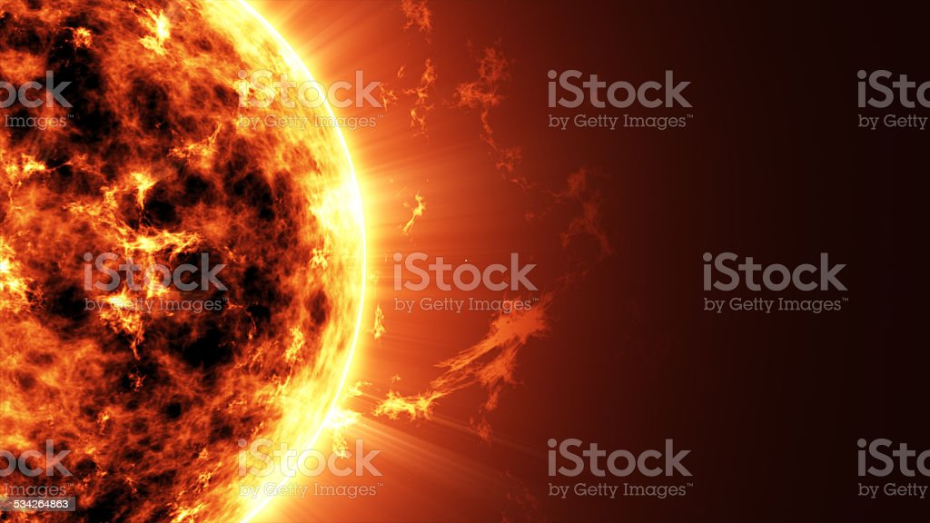 Big Sun Star in Space stock photo