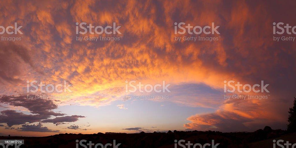Big Sunset royalty-free stock photo