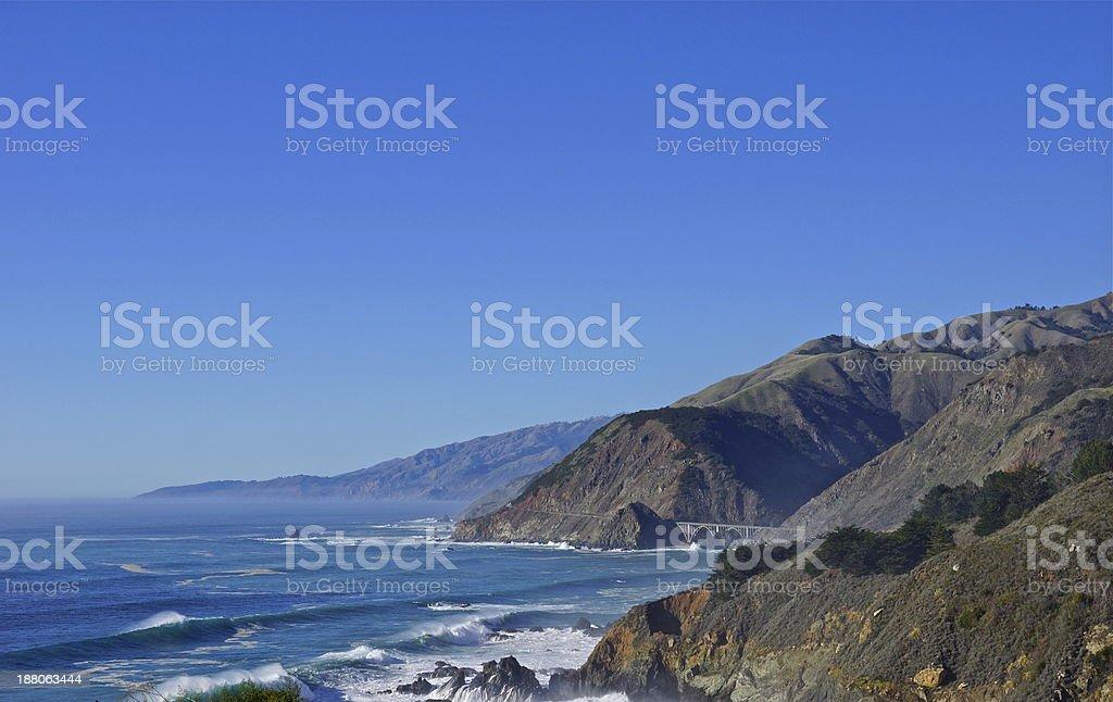 Big Sur Blue stock photo