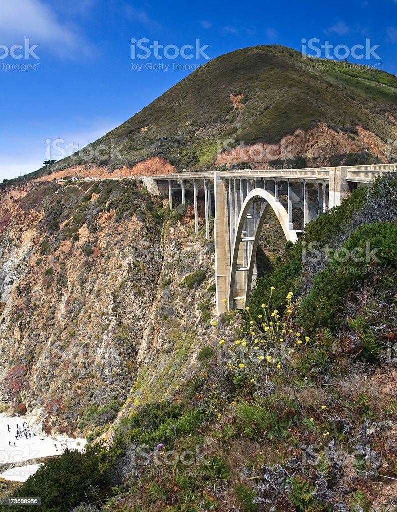 Big Sur Bridge royalty-free stock photo
