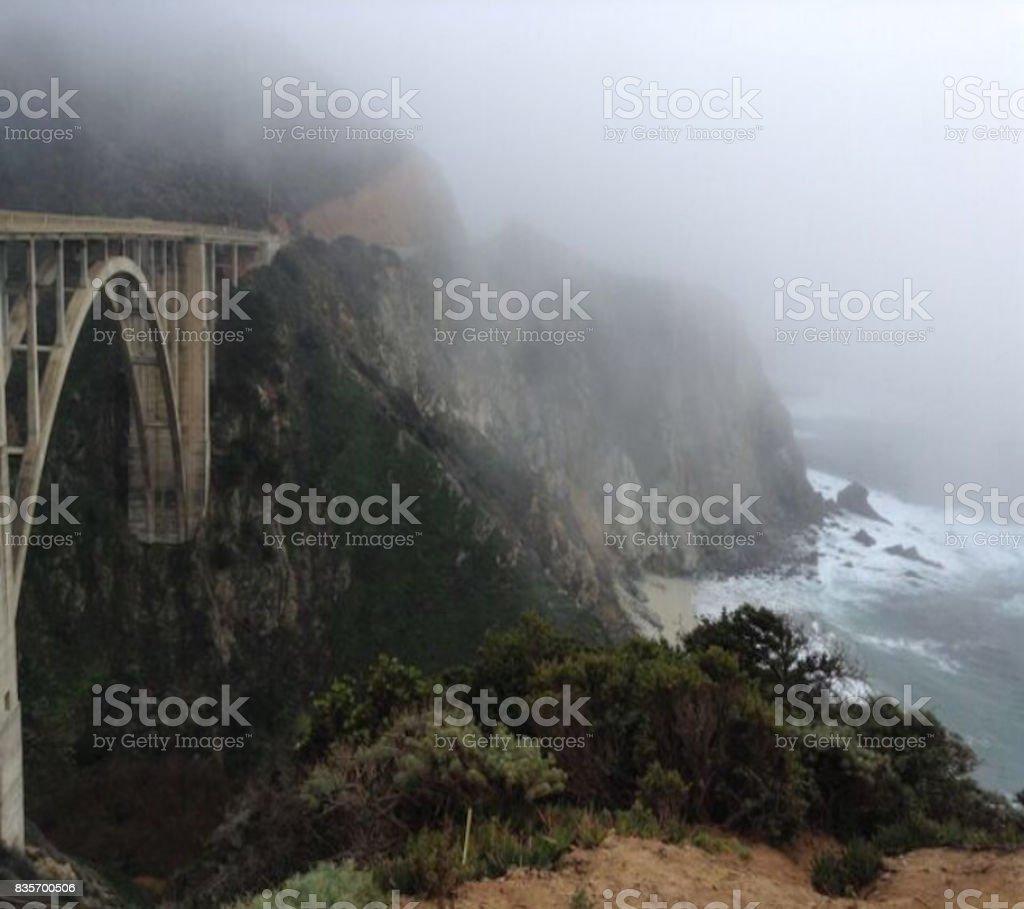 Big Sur Bridge stock photo