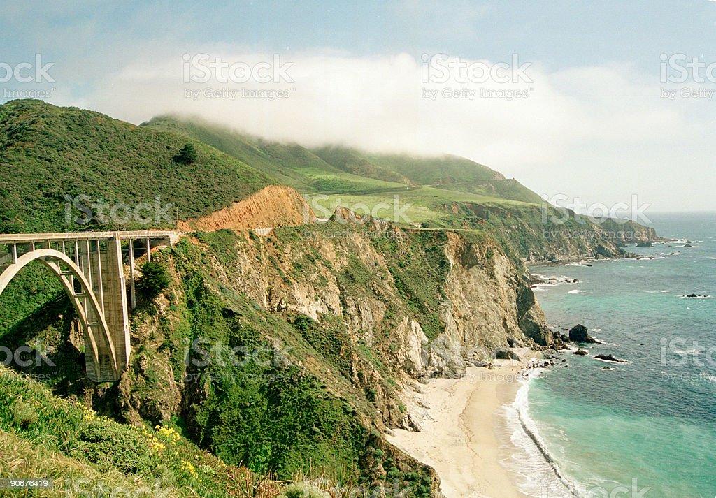 big sur california coastal highway usa royalty-free stock photo