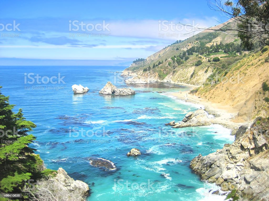 Big Sur - California Coastal Scene stock photo