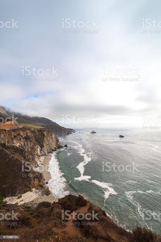 Big Sur Coast at the Bixby Creek Bridge stock photo