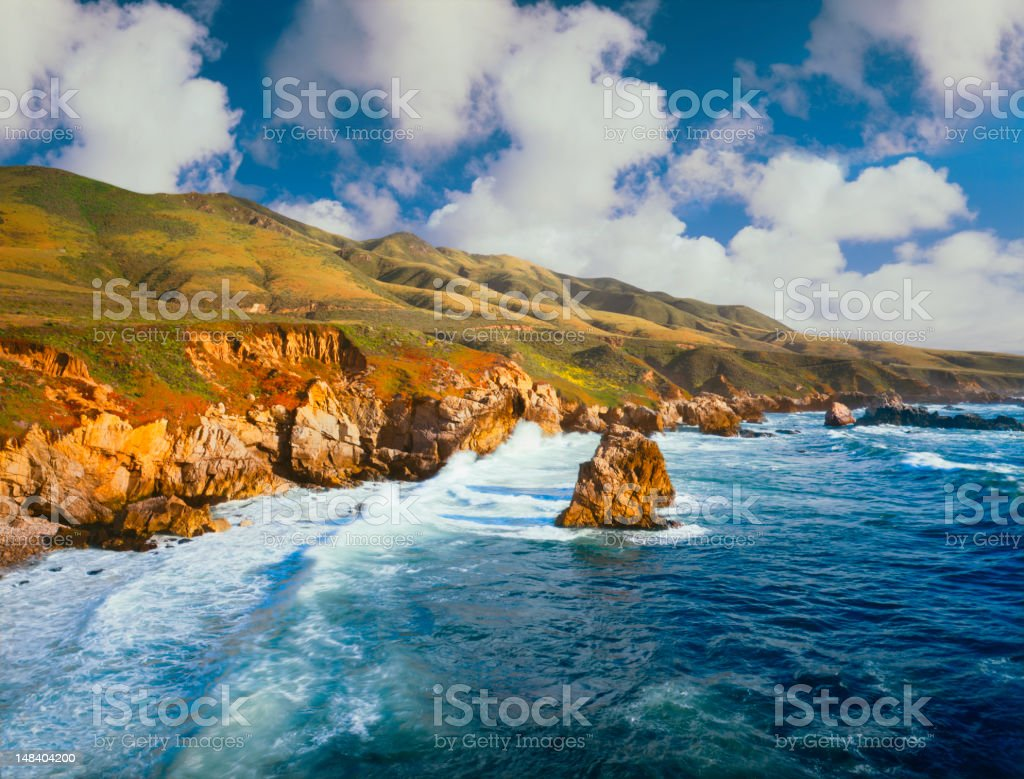 Big Sur Coast of California royalty-free stock photo