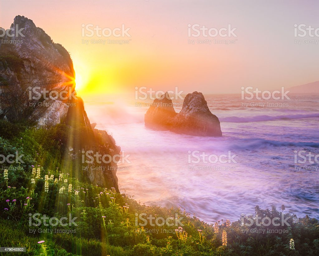 Big Sur Coast Of California(P) stock photo