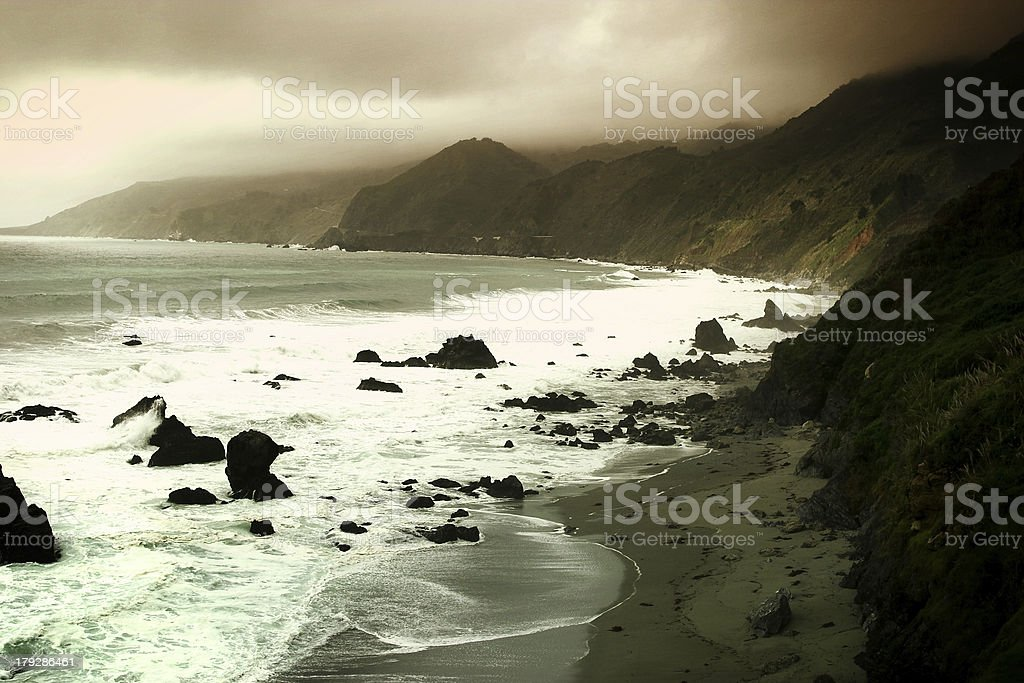 Big Sur Coast, Pacific Highway, California royalty-free stock photo