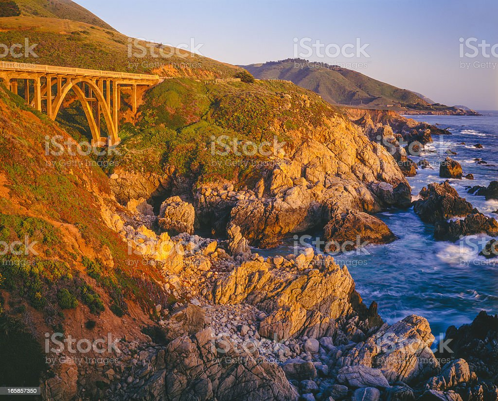 Big Sur Coastline, California  (P) royalty-free stock photo