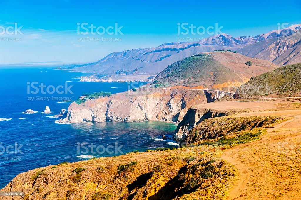 Big Sur coastline of California USA stock photo