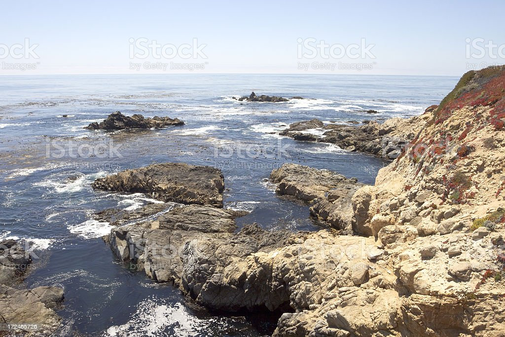Big Sur coastline royalty-free stock photo
