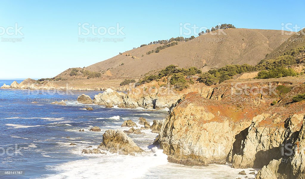 Big Sur is a sparsely populated region stock photo