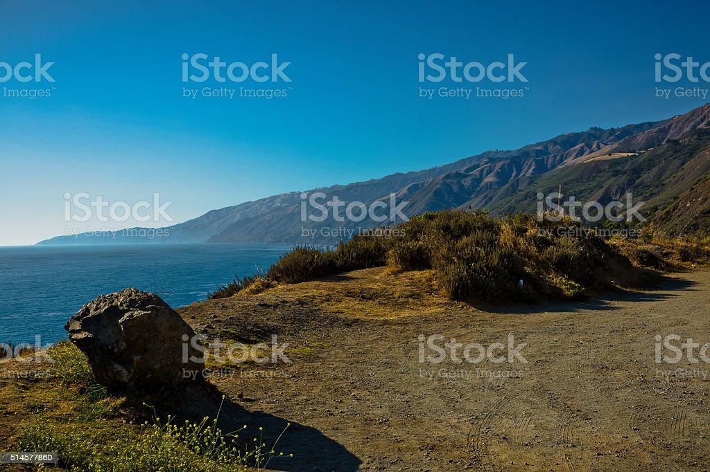 Big Sur Overlook stock photo