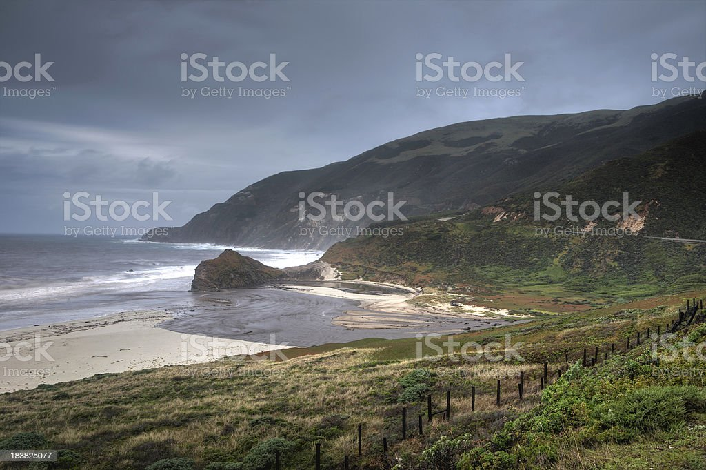 Big Sur Rock Coast stock photo